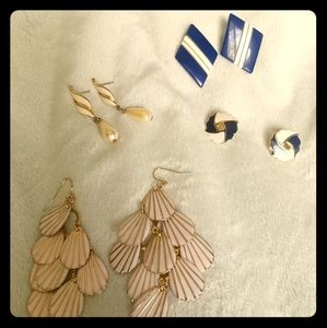 VINTAGE Nautical Earrings SET A